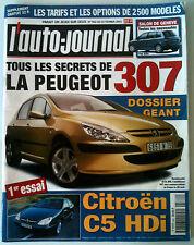 ►L'AUTO-JOURNAL  2/2001; Citroen C5 HDI/ Peugeot 307 dossier Géant/ Les Option