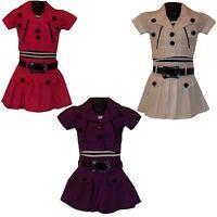 Girls LOVELY Party Summer Dress, Shrug/Jacket&Belt 3 Piece Set /Skirt 3-12ys #29
