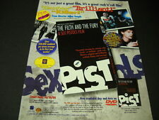 SEX PISTOLS Filth And Fury is ELECTRIFYING 2000 Promo Poster Ad mint condition