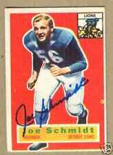 Joe Schmidt signed 1956 Topps Rookie card #44-Detroit Lions