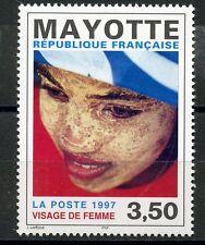 STAMP / TIMBRE DE MAYOTTE N° 47 ** VISAGE DE FEMME
