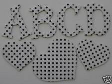 Bo Bunny Double Dot *SUGAR* White Chipboard Letters