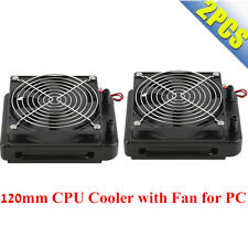 2X 120mm Water Cooling CPU Cooler Row Heat Exchanger Radiator with Fan for PC BP