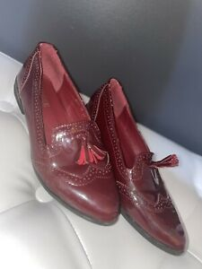red patent shoes Brogue Uk4
