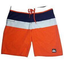 Quicksilver Board Surf Short Men's 33 x 20 Orange Gray Blue White RN 114199