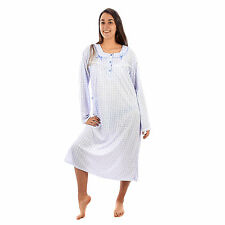 Camicia da notte donna primavera autunno lunga in cotone taglie forti  7DPCAM006