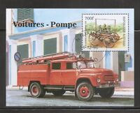 Chad SC # 788 Fire Trucks . Souvenir Sheet .MNH