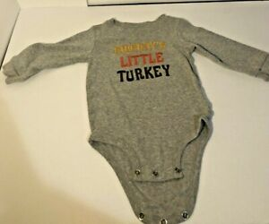 Carter's size 12 months Mommys Little Turkey outfit Thanksgiving long sleeve EUC