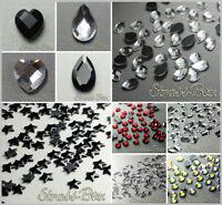 Hotfix DMC FORMEN  Strasssteine Glas geschliffen  Herz Tropfen Sterne Dreieck