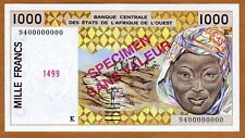 SPECIMEN West African States, Senegal, 1000 Francs, 1994 P-711Ks UNC