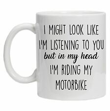 Motorcycle Gifts - Motorbike Gifts - Tea Coffee Mug - In My Head I'm Riding Gif