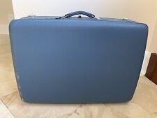 "Vintage Retro Blue American Tourister Tri-Taper Hardshell Suitcase 26"""