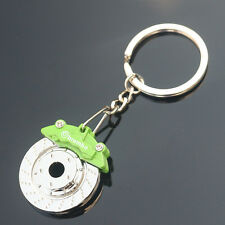 Disc Brake Model Keychain Creative Auto PartCar Keyring Key Chain Keyfob Green