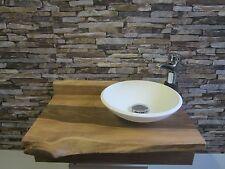 mini Nussbaum Massivholz Waschtisch WC Wohnmobil Aufsatz Waschbecken Gartenlaube