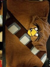 ANGRY BIRDS Star Wars Brown Hooded Towel 100% Cotton