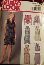 New Look Sewing Pattern  6211 DressTop Skirt with Jacket Uncut Size 8-18