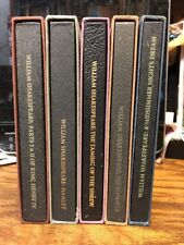 Collection of FIVE (5) works by William Shakespeare in cloth bound slipcases