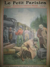 ETATS-UNIS KANSAS COFFEYVILLE ATTAQUE DE TRAIN JOURNAL LE PETIT PARISIEN 1911