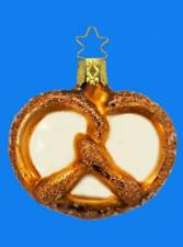 INGE GLAS SALTY PRETZEL GERMAN BLOWN GLASS CHRISTMAS TREE ORNAMENT DECORATION