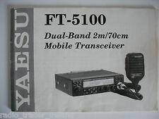 Yaesu ft-5100 (Genuino Manual de instrucciones sólo).............. radio_trader_ireland.