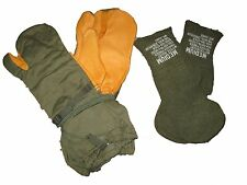 US MILITARY COLD WEATHER MITTENS AND TRIGER FINGER GLOVES WOOL  WITH INSERT NOS