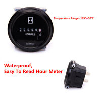 DC 8-80V High Accuracy Steady Round Digital Display Hour Meter for Car Vehicles