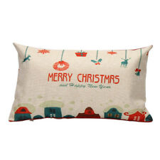Home Decoration Pillow Case Cushion Merry Christmas Letter Sofa Bed Cover Linenv #6