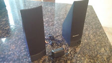 Genuine IBM Lenovo Computer Speakers FRU 41A5331, Set of 2 PC Speakers W/AC Adap