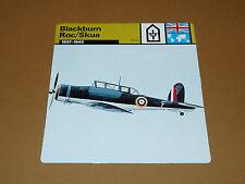BLACKBURN ROC/SKUA 1937-1945 RAF ENGLAND AVIATION FICHE WW2 39-45