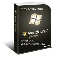 LICENZA MICROSOFT WINDOWS 7 Ultimate 32/64 BIT COA STICKER