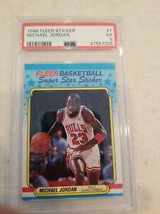 1988 Fleer Michael Jordan Sticker #7 PSA 5