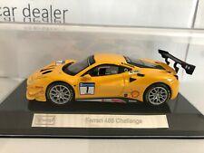 Bburago 1:43 Ferrari 488 Challenge #1 geel nieuw in display doosje