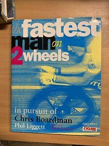 1994 THE FASTEST MAN ON 2 WHEELS CHRIS BOARDMAN CYCLING HUGE HARDBACK BOOK (P5)