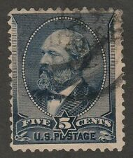 USA Scott #  216   5¢ Indigo Garfield issue of 1888 used ( 216-3)