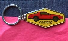 Vintage Camaro Red Enamel & Gold Tone Key Chain Medallion