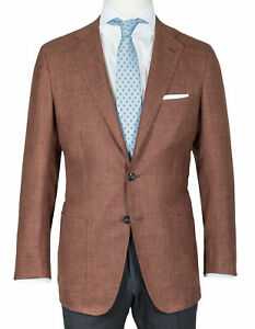 Kiton Jacket Maroon With Patch Pockets - Cashmere/Canvas/Silk