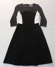 Boden Women's Quilted Colorblock Dress Black/White GG8 Size UK:10 US:6 New
