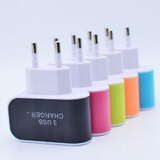 2A Dual 3 Port USB Netzteil Adapter Ladegerät Netzstecker für Universal Handy