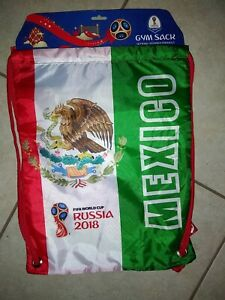 Mexico 2018 FIFA World Cup Russia Official Gymsack Drawstring Soccer Backpack