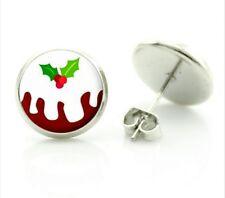 Christmas Earrings Christmas Pudding Earrings Festive stud earrings Party
