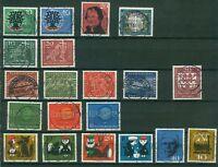 Bund Jahrgang 1960 - Auswahl aus Michel Nr. 326 - 345 , o , gestempelt