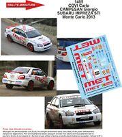 DECALS 1//24 REF 22 SUBARU IMPREZA WRX POSTEL RALLYE MONTE CARLO 1996 RALLY WRC