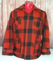 VTG Woolrich Mens 505 Wool Buffalo Plaid Canvas Lined Hunting Jacket Size 44 XL