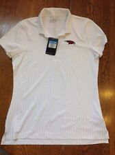 Womens Nike Golf Dri Fit Polo White with Light Grey Size Medium ~BNwTags