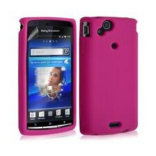 Housse etui coque silicone pour Sony Ericsson Xperia x12 Arc / Arc S couleur ros