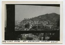 SKYLINE View of CATALINA ISLAND California From Balcony Vintage 1940s Photo