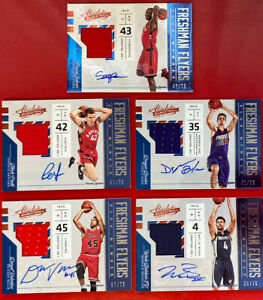 2016-17 Absolute Lot 5 Freshman Flyers Rookie Jersey Autograph /75 Pascal Siakam