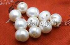 Venta por mayor 10 piezas 9-11mm blanco perla natural de patatas para joyería haciendo 2mm Hole