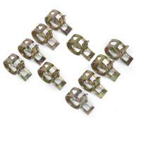 10 x Clip a Ressort Colliers de Serrage pour Tuyau de Carburant Conduite d'eau T