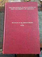 Decennial Pub.~University Of Chicago~1906~Christian Religion